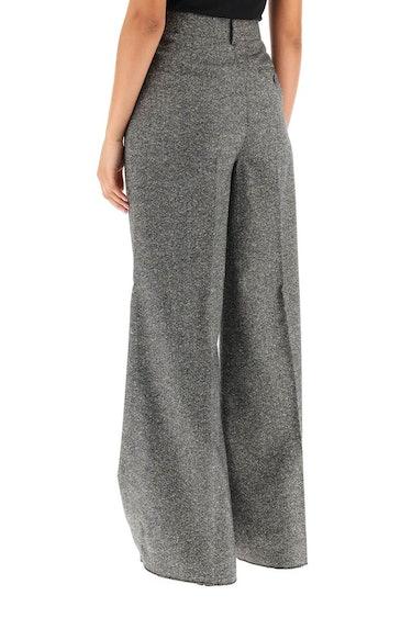 Sportmax Palmas Wide Trousers In Tweed: additional image