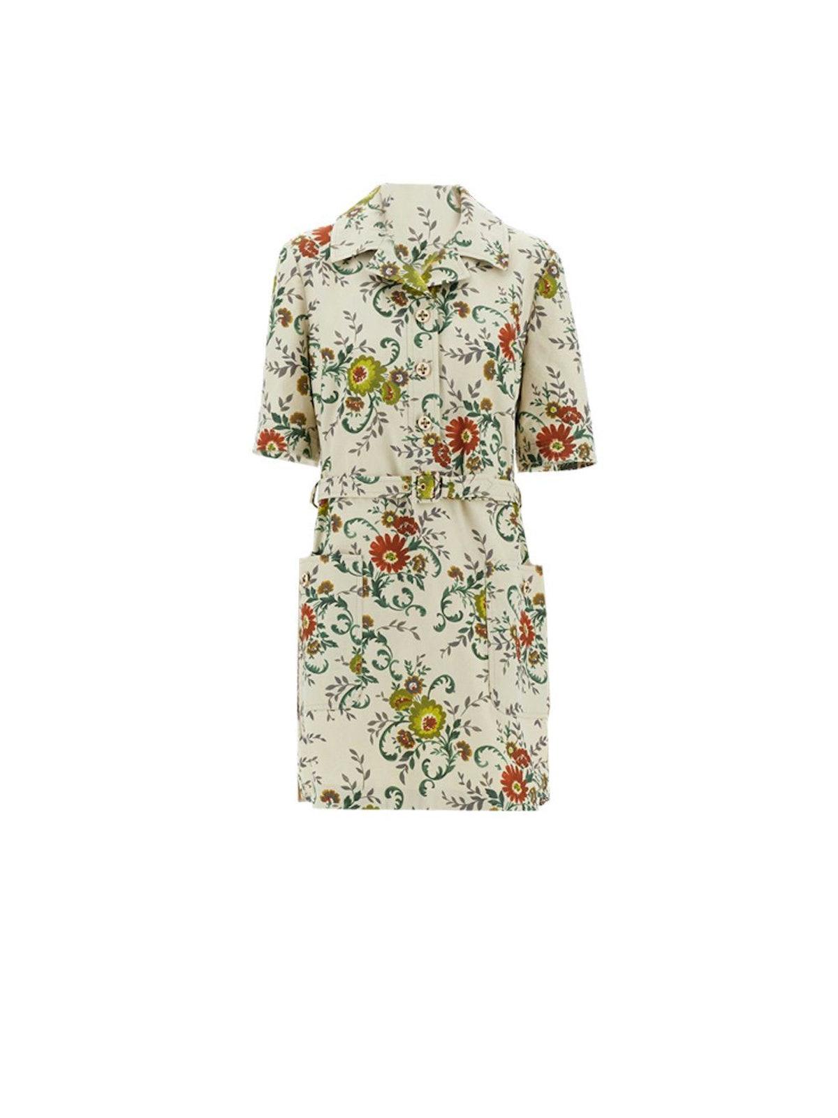 Canvas Floral Dress: image 1