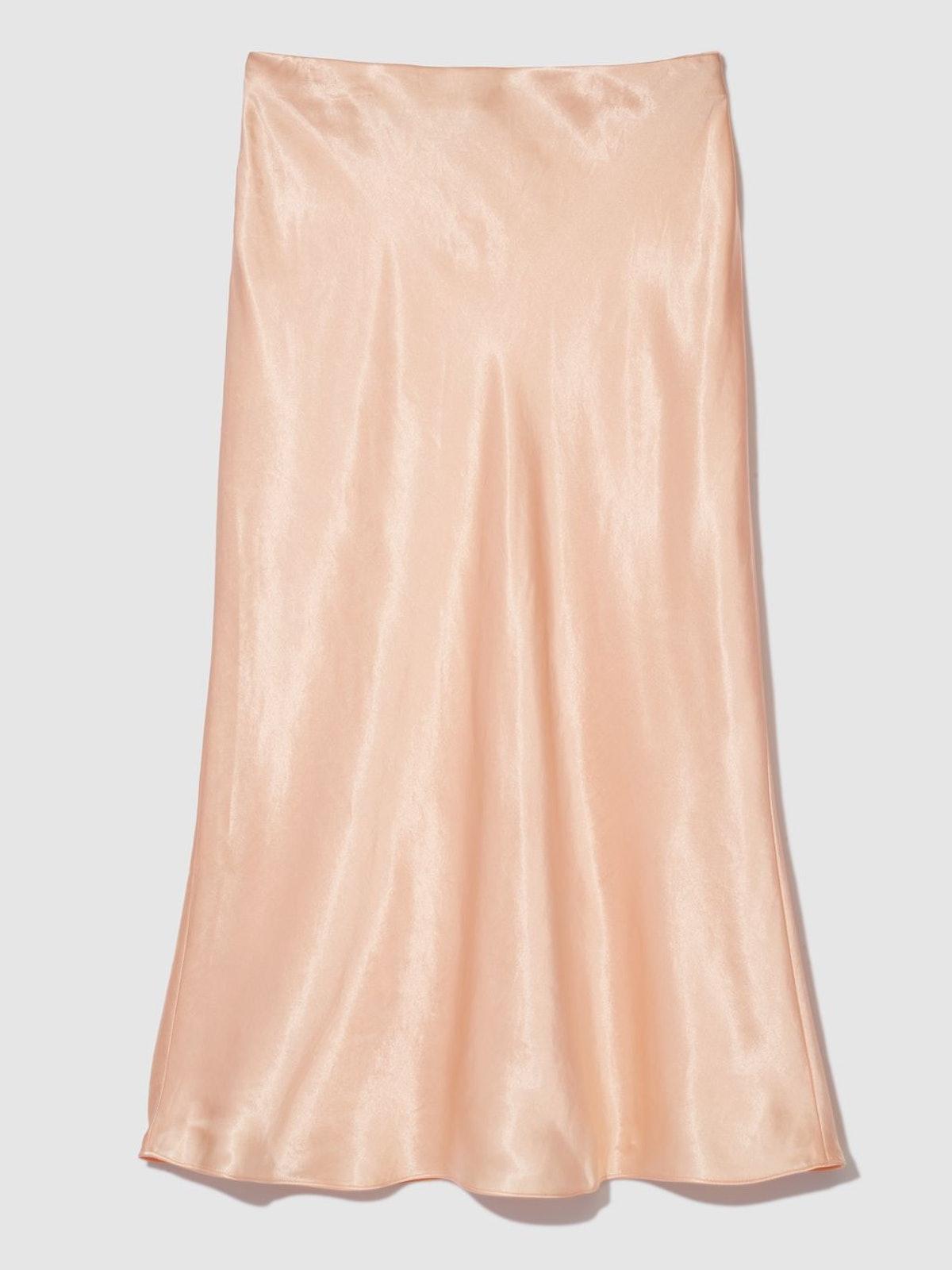 Satin Slip Midi Skirt: image 1