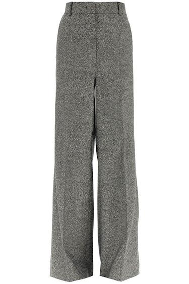 Sportmax Palmas Wide Trousers In Tweed: image 1