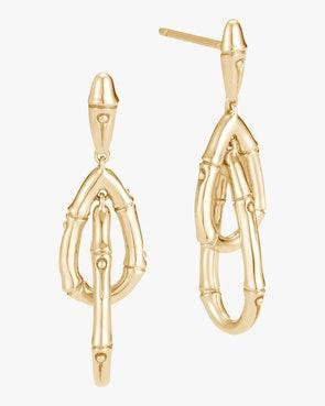 Bamboo Drop Earrings: image 1
