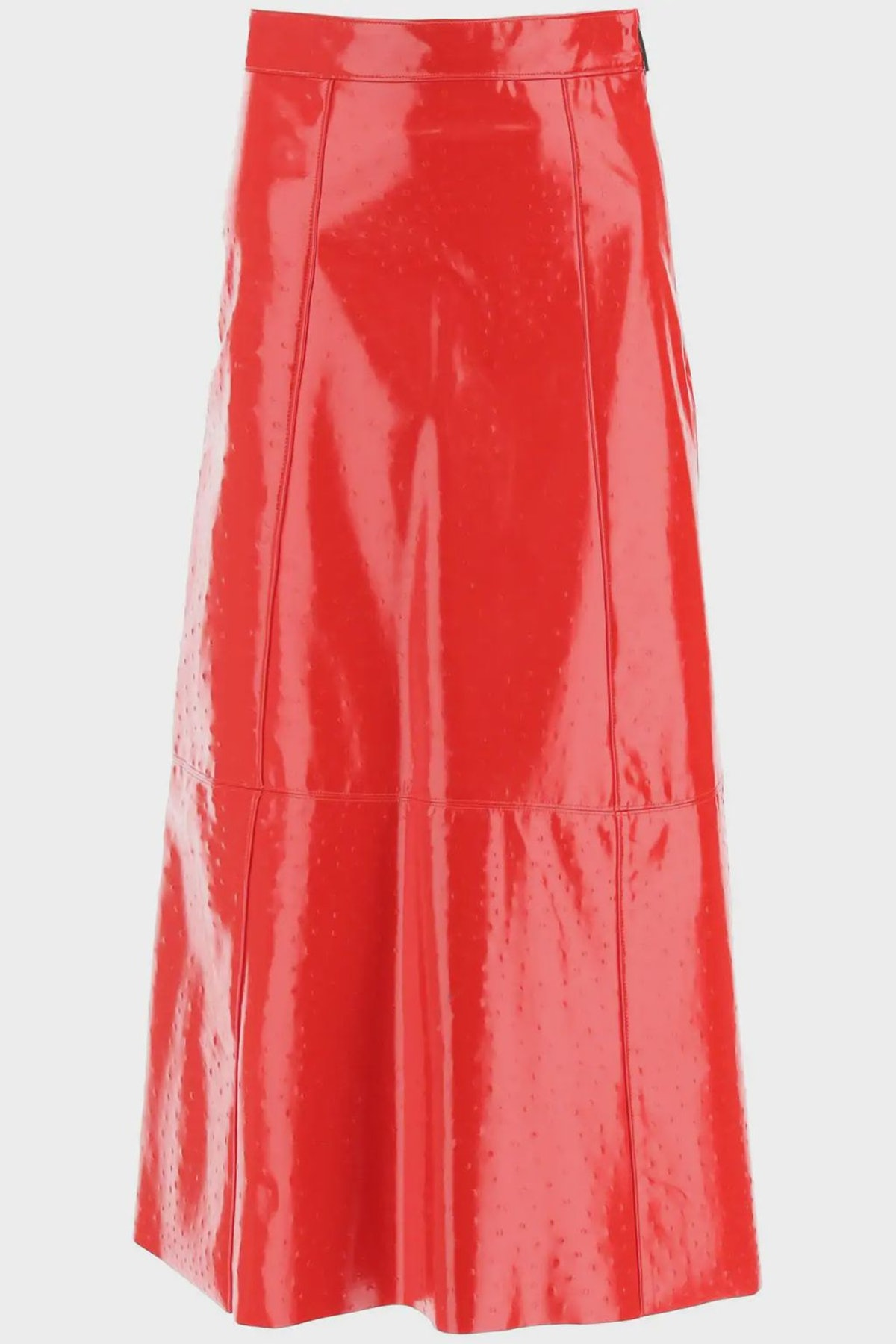 Msgm Ostrich-effect Faux Leather Midi Skirt: image 1