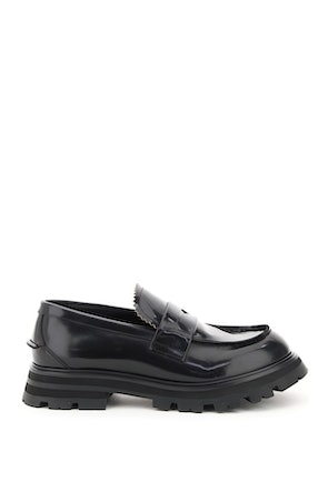 Alexander Mcqueen Brushed Leather Loafers: image 1