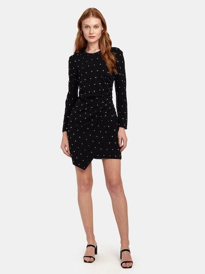 Lana Crystal Embellished Crepe Mini Dress: image 1