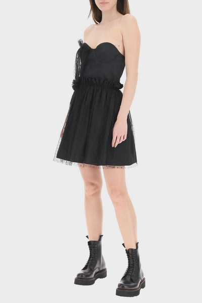 Red Valentino The Black Tag Dress: image 1