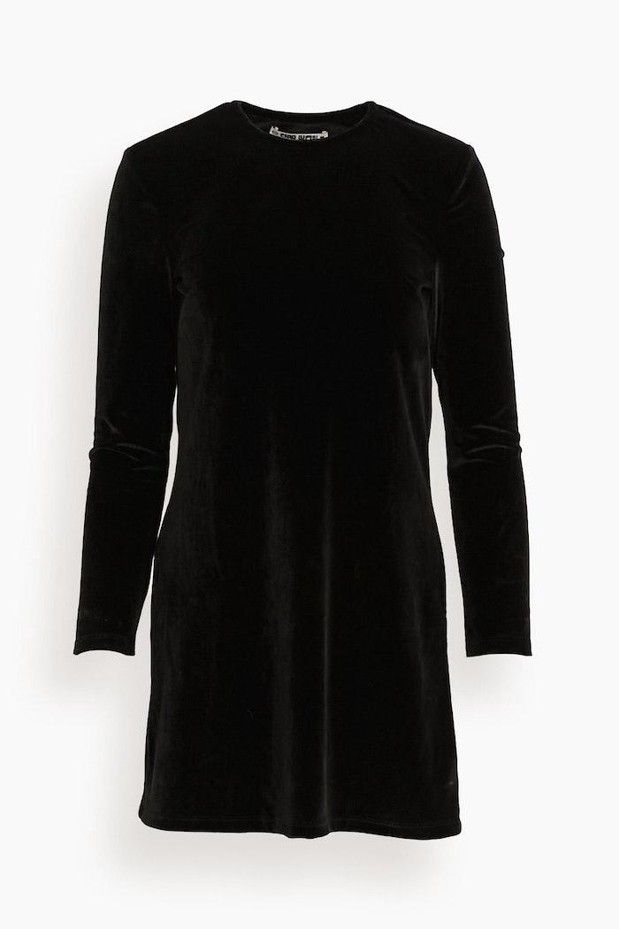 Kate Stretch Velvet Dress in Black: image 1