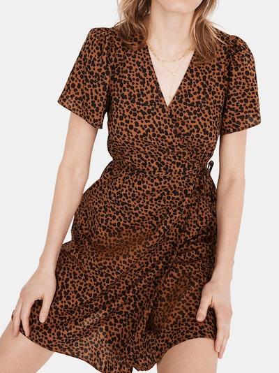 Flutter-Sleeve Wrap Mini Dress: image 1