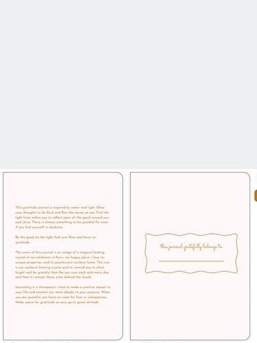 Gratitude Journal: additional image
