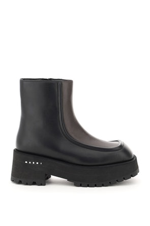Marni Two-tone Nappa Ankle Boots: image 1