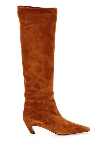 Khaite Davis Knee-high Suede Boots: image 1