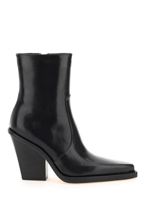 Paris Texas Brushed Leather Rodeo Anke Boots: image 1