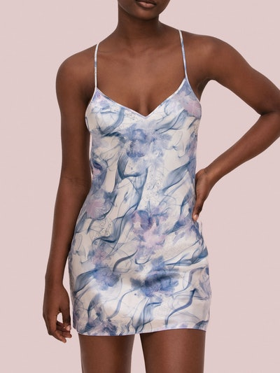 Mist Silk Slip Dress: image 1