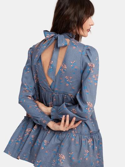 Petit Fours Smock Neck Mini Dress: image 1