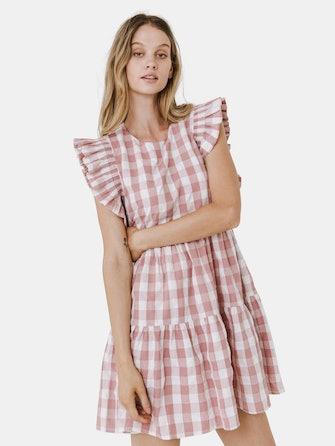 Gingham Mini Dress: image 1