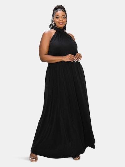 Halter Neck Maxi Dress: image 1