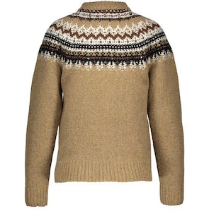 Shetland Wool Round-Neck Jumper with A Fair Isle Pattern: image 1