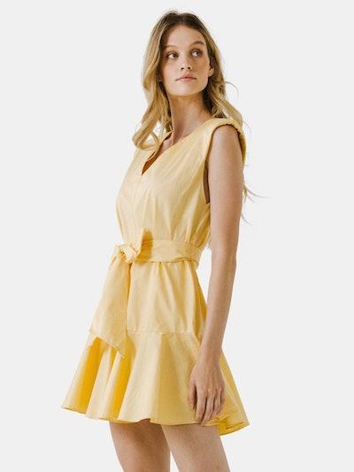 V-neckline Sleeveless Mini Dress: image 1