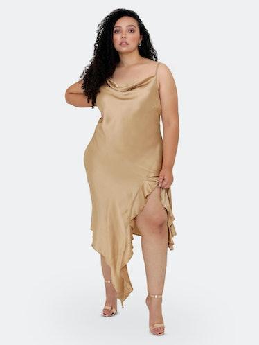 Isabella Bias Cut Slip Dress: image 1