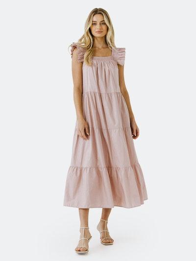 Ruffle Detail Midi Dress: image 1