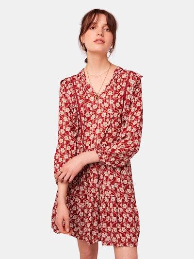 Oak St Long Sleeve Floral Mini Dress: image 1