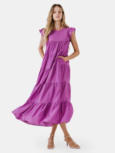 Tiered Maxi Dress: image 1