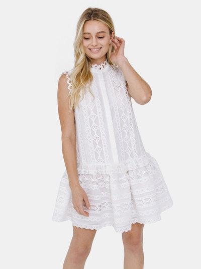 Lace Mini Dress: image 1