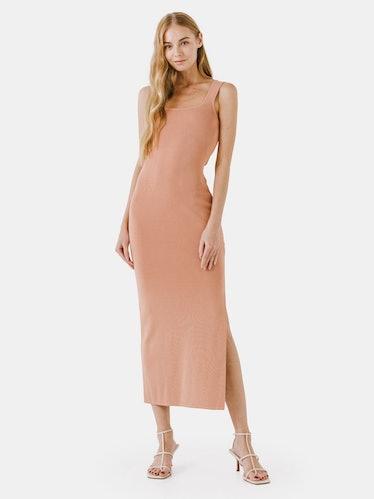 Square Neck Maxi Dress: image 1
