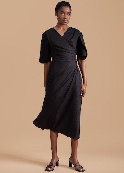 Clay Pot Sleeve Wrap Dress: image 1