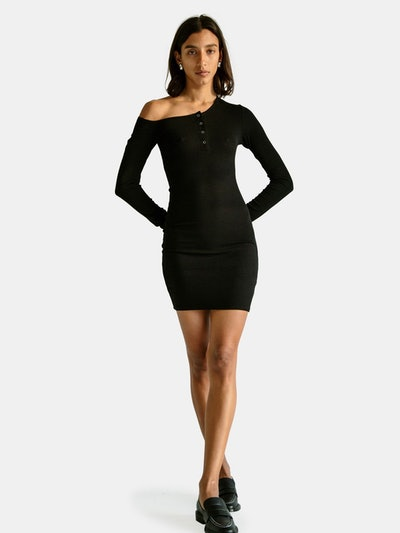 Rori Asymmetric Neck Mini Dress: image 1