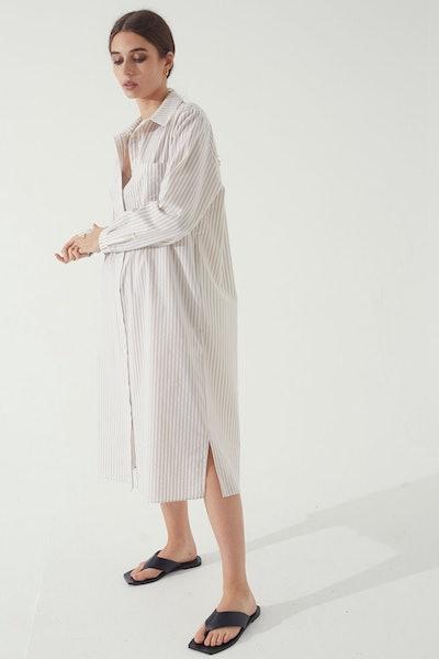 Stripe Shirt Dress: image 1