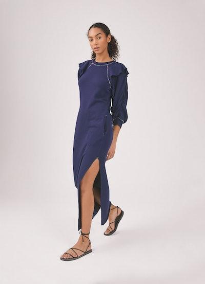 Meghan Ruffle Sweatshirt Dress: image 1