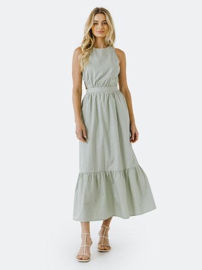 Elastic Detail Sleeveless Dress: image 1