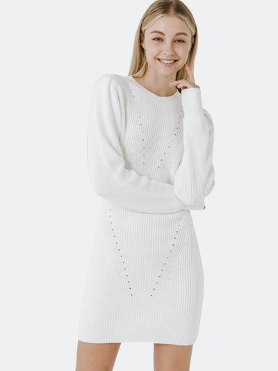 Sweater Mini Dress: image 1