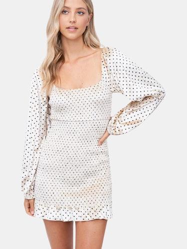 Quinn Polka Dot Velvet Dress: image 1