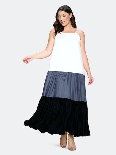 Colorblock Cami Neck Maxi Dress: image 1