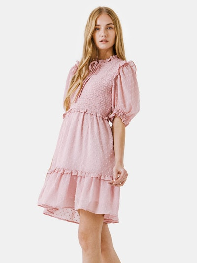 Swiss Dot Mini Dress: image 1