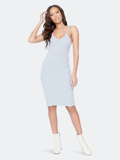 Traveler Cognac Sleeveless Midi Dress: image 1