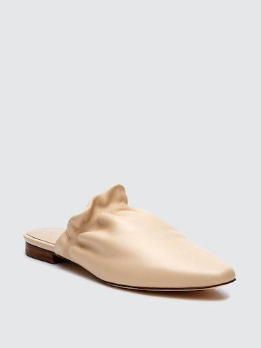 Vienna Ivory Leather Mule: image 1