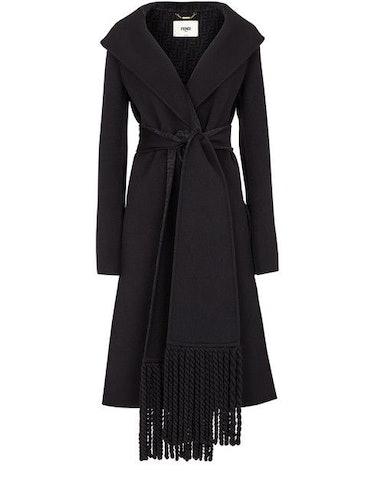 Black wool coat: image 1