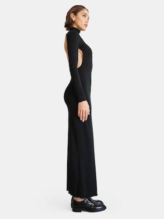 Lenny Open-Back Stretch Jersey Maxi Dress: image 1