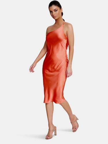 Anya Midi Dress | Apricot: image 1