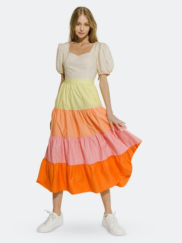 Color Block Midi Dress: image 1