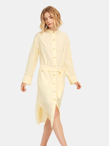 Belted Button Down Dress: image 1