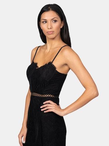 Lace & Velvet Minidress: image 1