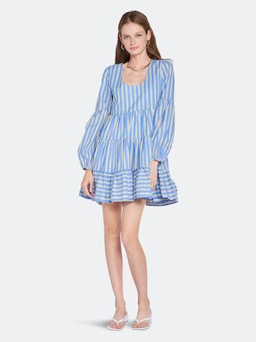 Alanna Striped Tiered Dress: image 1