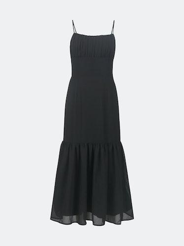 Alice Flounce Hem Dress- Black: image 1