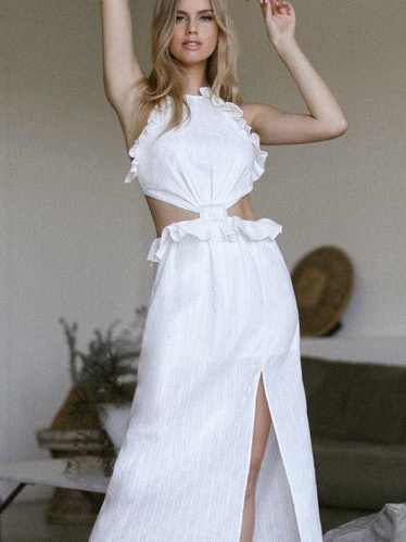 Bianca Midi Dress - Ivory: image 1
