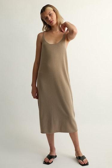 U Neck Knit Dress: image 1