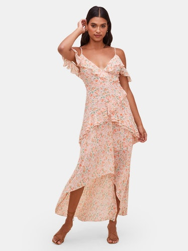Pemberley Flutter Sleeve Maxi Dress: image 1