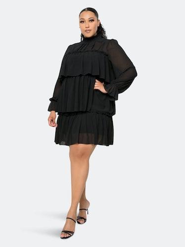 Tiered Mini Dress: image 1